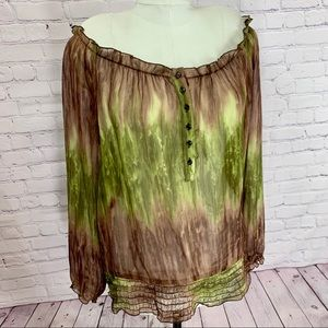 LANE BRYANT Bohemian Sheer Blouse Plus Size 18/20